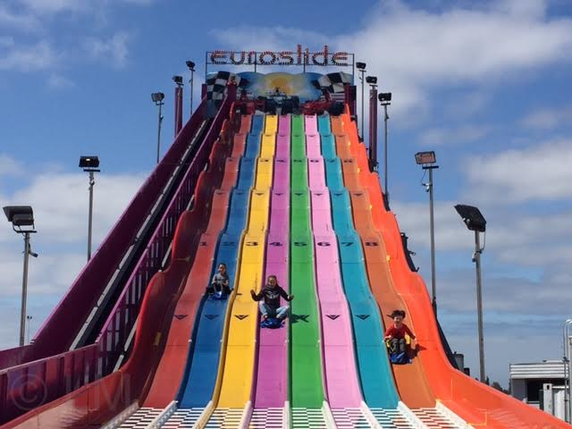 santas magical kingdom big slide